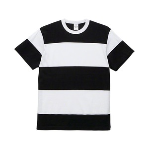 5.6オンスボーダーTシャツSブラック15cm幅