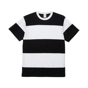 5.6オンスボーダーTシャツMブラック15cm幅