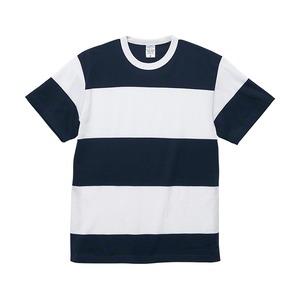 5.6オンスボーダーTシャツSネイビー15cm幅