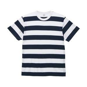 5.6オンスボーダーTシャツMネイビー5cm幅