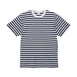 5.6オンスボーダーTシャツMネイビー1.2cm幅