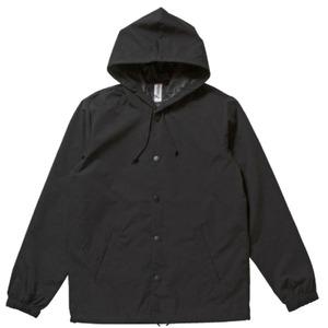 【インディペンデント】フード付き撥水・防風ウインドウブレーカー ブラック×ブラック XL