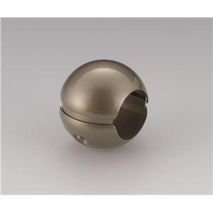 【10個セット】階段手すり滑り止め 『どこでもグリップ』ボール形 亜鉛合金 直径35mm アンバー シロクマ 日本製