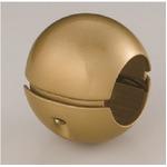 【5個セット】階段手すり滑り止め 『どこでもグリップ』ボール形 亜鉛合金 直径38mm AG シロクマ 日本製