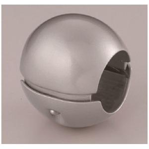 【5個セット】階段手すり滑り止め 『どこでもグリップ』ボール形 亜鉛合金 直径38mm シルバー シロクマ 日本製