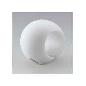 【10個セット】階段手すり滑り止め 『どこでもグリップ』ボール形 軟質樹脂 直径35mm アイボリー シロクマ 日本製