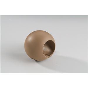 【10個セット】階段手すり滑り止め 『どこでもグリップ』ボール形 軟質樹脂 直径35mm ブラウン シロクマ 日本製