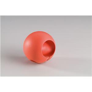 【5個セット】階段手すり滑り止め 『どこでもグリップ』ボール形 軟質樹脂 直径32mm コーラル シロクマ 日本製