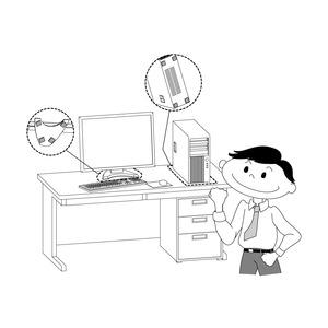 【10枚セット】耐震マット ゲル 家具転倒防止 シロクマ 日本製 40×40mm 厚さ2mm の画像