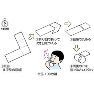 (まとめ)紙笛 入数:100枚【×5セット】の詳細を見る