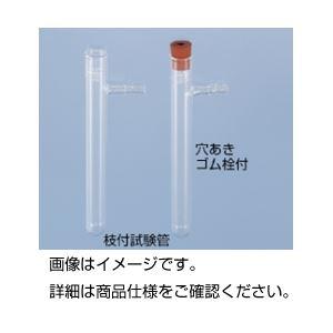 (まとめ)枝付試験管(穴あきゴム栓付)【×10セット】の詳細を見る