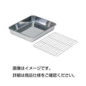 (まとめ)ステンレス浅型バット手札本体【×10セット】