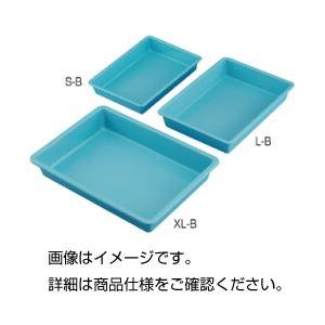 (まとめ)プラスチックバット(ブルー)L-B【×5セット】の詳細を見る