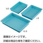 (まとめ)プラスチックバット(ブルー)L-B【×5セット】