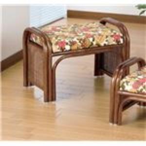 天然籐らくらく座椅子2脚組 【ハイタイプ】 座面高33cm (リビング/玄関) - 拡大画像