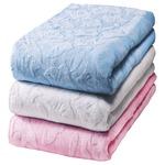ワイド&ロング綿100%お買得タオルシーツ 【シングルサイズ】 (3色組み/ブルー(青)・ピンク・ホワイト(白))