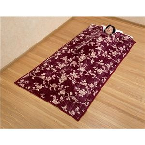 綿入りくりえり毛布 【シングルサイズ】 (2色組み)テイジンRウォーマルR使用マイヤー2枚合せ  - 拡大画像