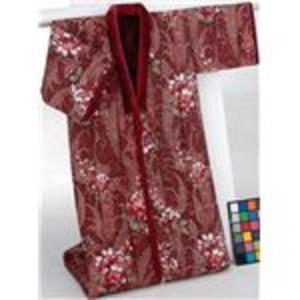 あったか遠赤綿入りボアかいまき布団 幅140cm×長さ190cm 遠赤綿入り ワイン(エンジ) - 拡大画像