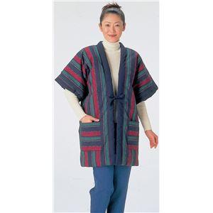久留米紬織やっこ半纏(半天) 【M〜L】 両脇ポケット付き 表地:綿100% エンジ