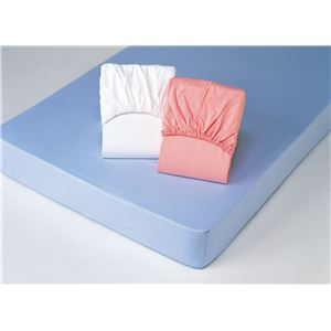 平織ボックスシーツ 【シングルサイズ】 (同色2枚組み/ ピンク) 綿100%