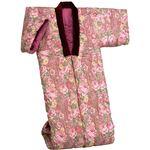綿混わた入りかいまき布団 幅130cm×長さ185cm 日本製 ピンク (防ダニ効果)