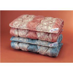 敷布団 【シングル】/英国羊毛(ステッキマークゴールドラベル)中央増量敷き布団 ピンク (抗菌防臭加工)