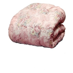 羊毛キルト加工掛け布団 【セミダブル】 ニュージーランド産 日本製 ピンク