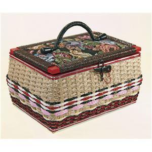 昔懐かしい手編み裁縫箱(ソーイングセット付き)