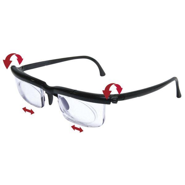 度数が調節できるメガネ ブラックf00