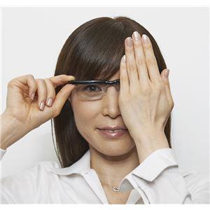 度数が調節できるメガネ ブラック f05