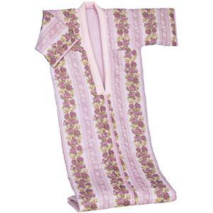 綿ガーゼ花柄かいまきピンク - 拡大画像