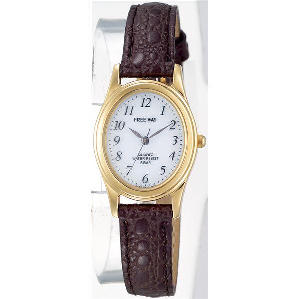 シチズン時計 FREEWAY ブラウン ソーラー電源ウォッチf00