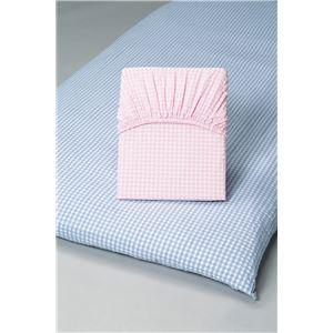先染め綿サッカーワンタッチシーツ同色2枚組ブルー ダブル