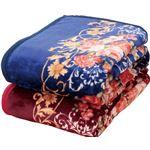 ニューマイヤー毛布&オーロラ敷パッドセットダブル4点セットの画像