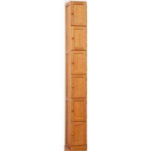 桐製すきま収納庫6ドア 20cm幅