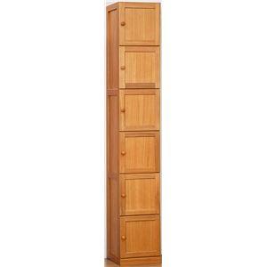 桐製すきま収納庫6ドア 30cm幅