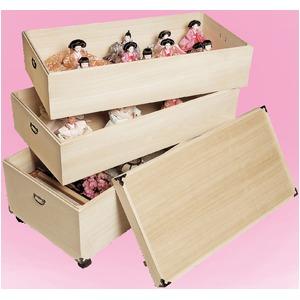 桐製ひな人形収納ケース 3段
