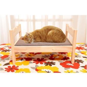 ペット用木製ベッド 2個組 - 拡大画像