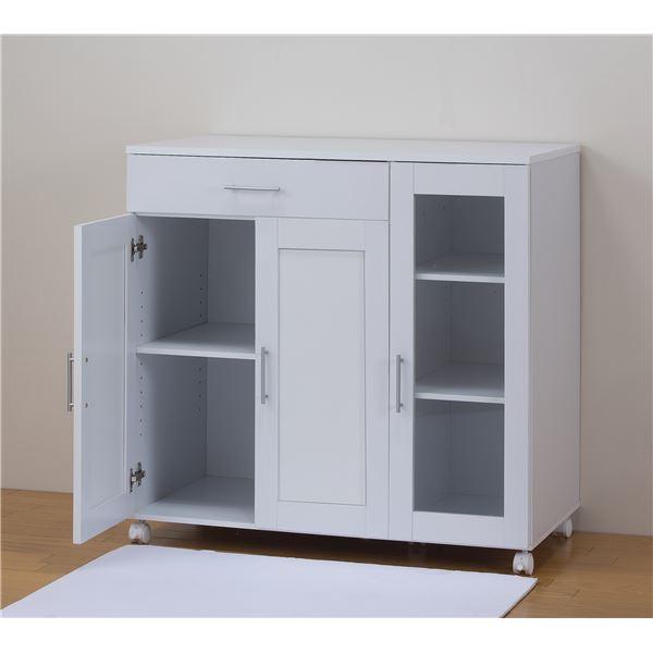【メッテ】キッチン収納 ホワイト