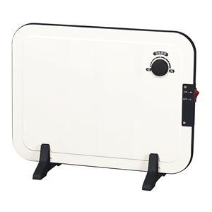 パネルヒーター/補助暖房器具 【ホワイト】 幅40.5cm 無段階温度調節 スリム 〔防寒 冬支度 寒さ対策〕