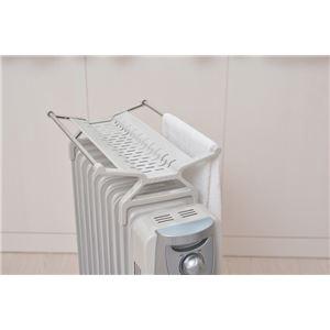 オイルヒーター/暖房器具 【急速温風機能付き】 温風ファンヒーター搭載 10枚フィン アイボリー 〔防寒 冬支度 寒さ対策〕