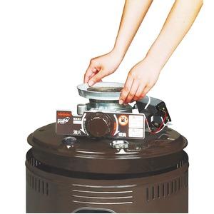 コンロ型 石油ストーブ/暖房器具 【タンク容量 約4.9L】 電源不要 一発点火 ニオイセーブ消火 日本製 〔防寒 冬支度 寒さ対策〕