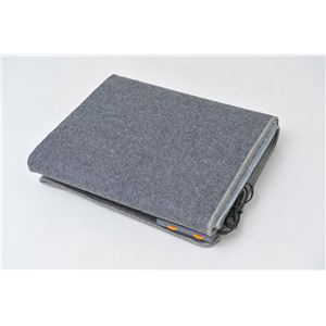 電気ホットカーペット/電気カーペット 本体のみ 【二畳用 195cm×235cm】 長方形 折りたたみ可