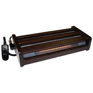 足置きハロゲンフットヒーター/暖房器具 【大】 幅82.9cm 無段階温度調節 手元コントローラー 〔防寒 冬支度 寒さ対策〕
