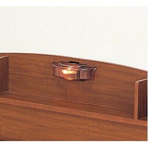 照明付き 宮付き 引き出し付き 国産すのこフロアベッド シングル (フレームのみ) ブラウン 日本製ベッドフレーム