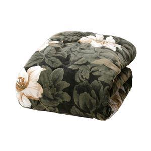 高級ヘムレス合わせ毛布布団/寝具 【グリーン】 140cm×200cm テイジンウォーマル使用 手提げ袋入り 日本製