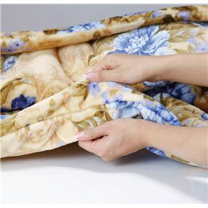 【京都西川】 ヘムレスわた入り2枚合わせ毛布 【ピンク】 140cm×200cm 側生地:ポリエステル100%