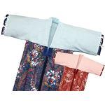 綿フラノかいまき衿カバー 2色組(ピンク/ブルー) 130×45cm