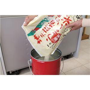 ライスストッカー/米びつ 【赤 10kg×1】 高気密仕様 防虫剤使用可 計量カップ フタ フック付きき トタン製 『オバケツ』