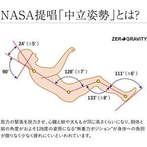くつろぎのリラックスチェア(Zero Gravity) ベージュ の画像